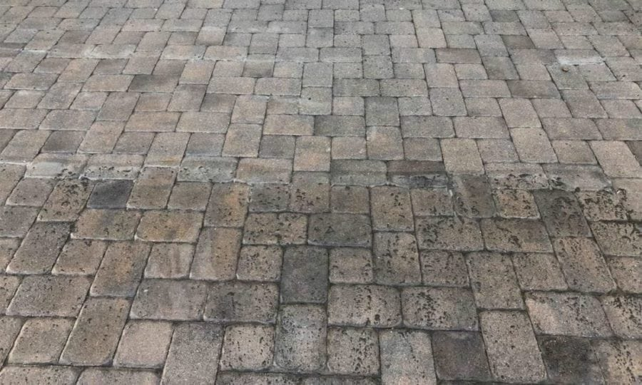 before and after pressure washing st cloud florida